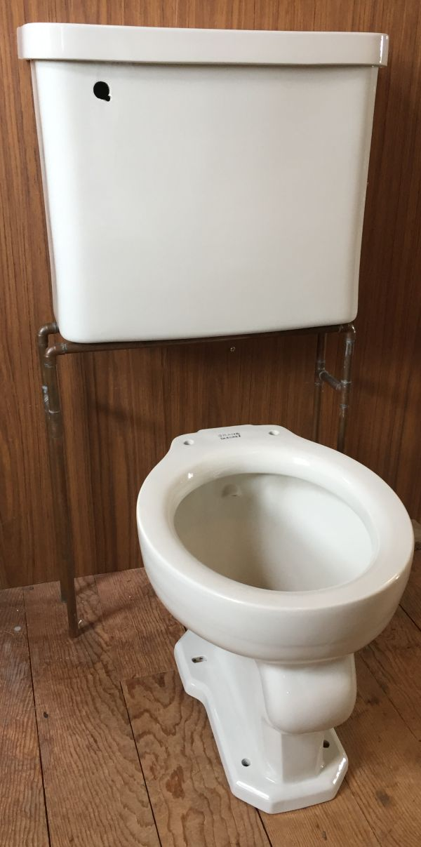 This Is A Nice Mid Century Set Toilet Will Require 4 Closet Flange Not By 3 On 14 Rough In Condition Excellent With No