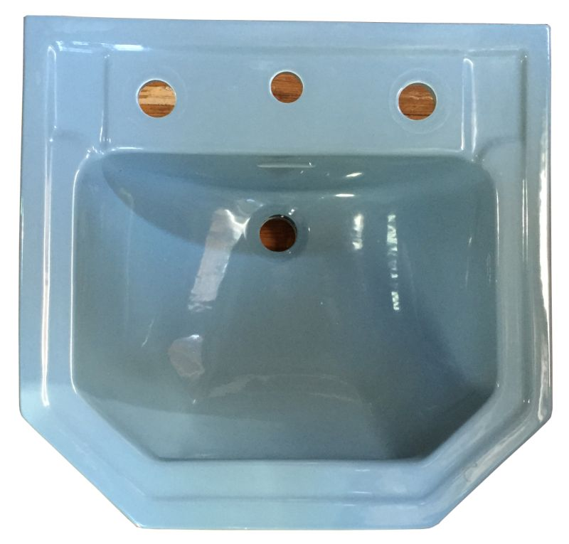 The Color Is Standard S Clair De Lune Blue And Was Very Por In 1950 This Particular Sink Does Have Several Small Chips Basin