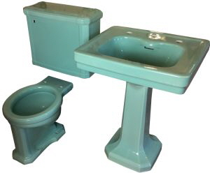 Antique Vintage Colored Bathroom Fixture