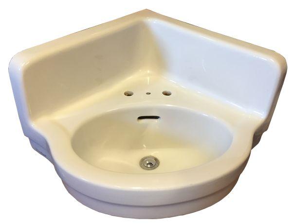 Vintage Corner Sink : Antique vintage corner sink