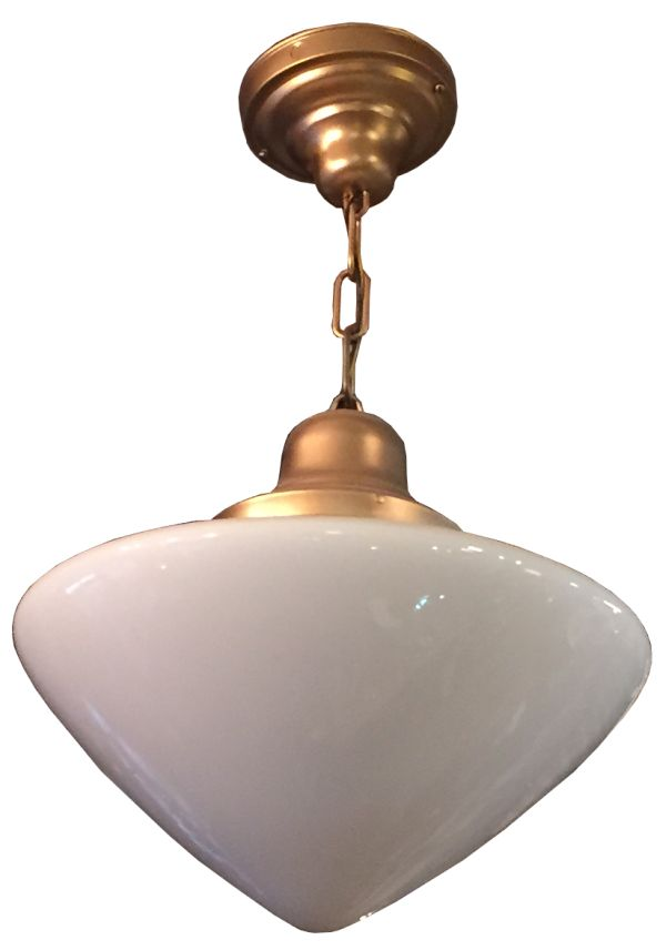This Is A Nice Period Lamp All The Metalwork Was Painted Bronze Color And We Opted To Leave It Alone Glass Original Fixture