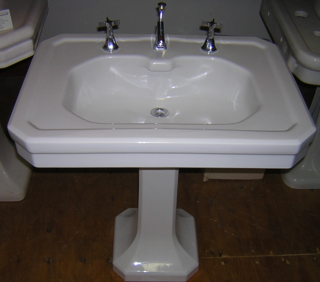 Good 1929 U201cWashington Potteriesu201d Pedestal Sink. This Particular Brand Was  Primarily A West Coast Manufacturer And Their Products Were Used In Many Of  The Finest ...