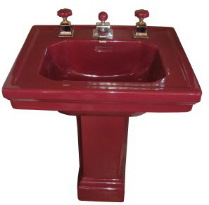 Late 1920u0027s Standard U201cTowerlynu201d Pedestal Sink. This Sink Is Spectacular!  The Only Non Original Parts On This Sink Are The Escutcheons.