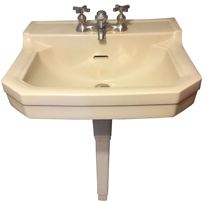 Late 1930u0027s Crane U201cSterlingu201d China Pegleg Sink. This Is One Neat Sink! The  Sink Itself Is In Excellent Condition, With No Flaws To Be Found.