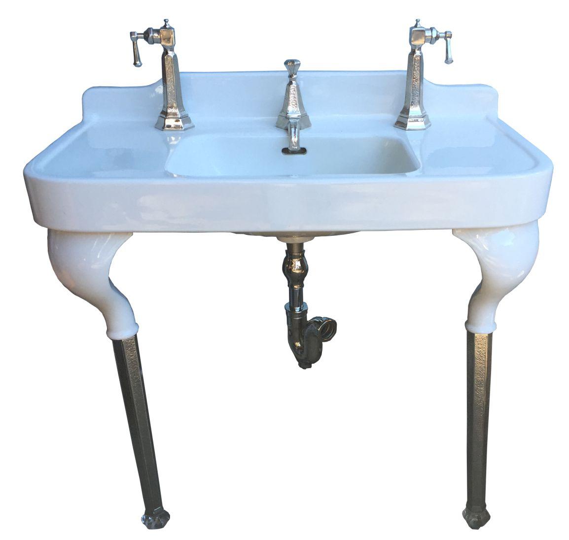 antique vintage pedestal sink