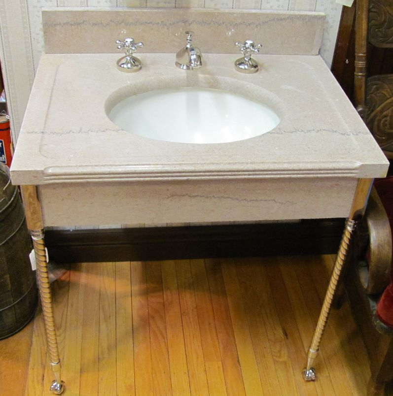 Console Sink With Chrome Legs Marina Life