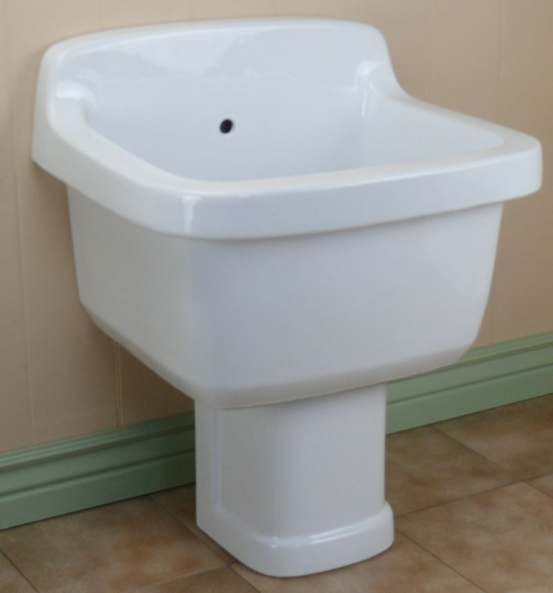Wall Hung Mop Sink : freestanding china mop sink imagine the possibilities this sink stands