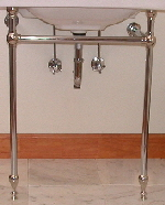 Wall Mount Sink Legs : console type leg kit with towel bars double leg kit