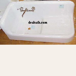 Antique Left Hand Corner Farmhouse Sink