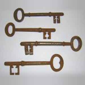 Antique Large Victorian Gate and Shop Keys