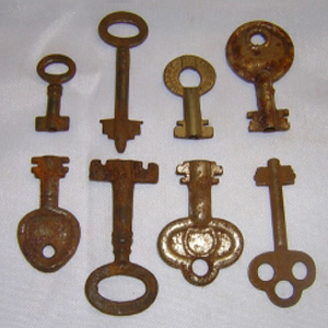 Antique Double Bit Keys