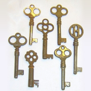 Antique Fancy Bow Keys