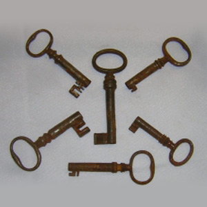 Antique Victorian Age Door Keys