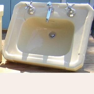 "Antique 1937 Standard ""Ivorie de Medici"" Console Sink"