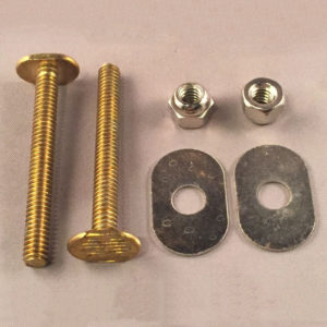 "1/4"" Solid Brass Closet Bolt Set, Unfinished"