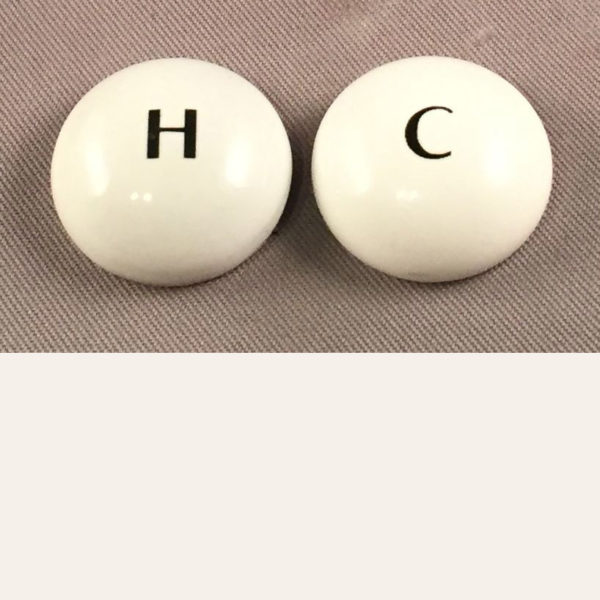 Replacement Porcelain Faucet Indicator Buttons
