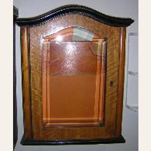 Circa 1920 Vintage Clock Case Curio/Medicine Cabinet