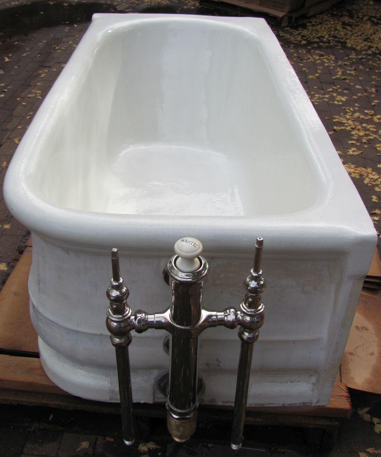 1912 Antique L Wolff Earthenware Tub Dea Bathroom