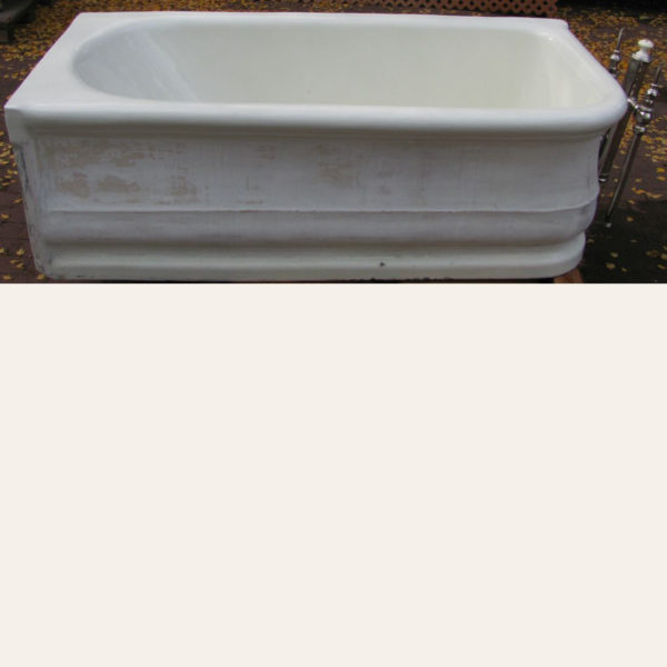 1912 Antique L. Wolff Earthenware Tub