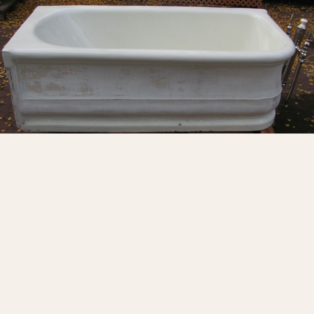 1912 Antique L Wolff Earthenware Tub