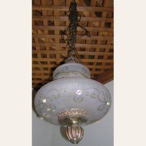 1970's Vintage Swag Lamp