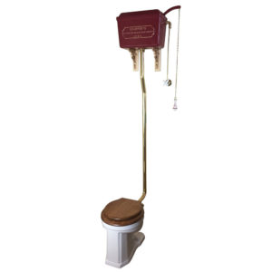 Thomas Crapper Metal Hightank Toilet Set