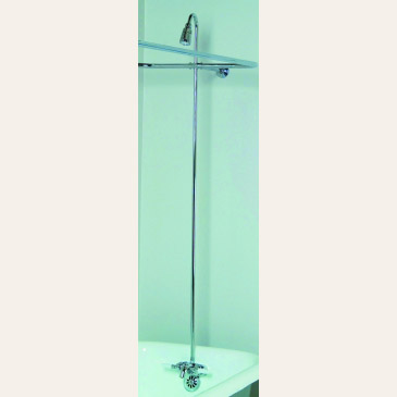 rectangular ring converto shower for clawfoot tubs