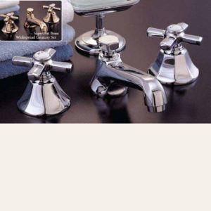 Art Deco Widespread Lavatory Faucet