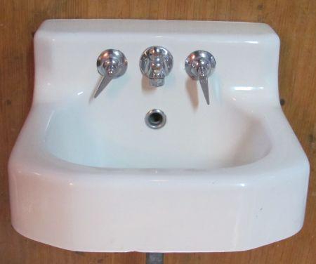 1955 Vintage Kohler Wall Hung Cast Iron Sink Dea