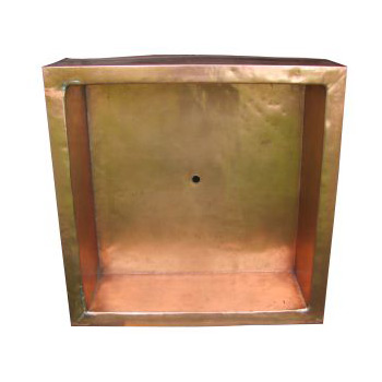 """42"""" Square Copper Shower Pan"""