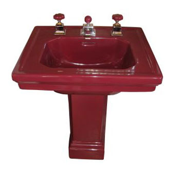 Circa 1928 Vintage Standard Towerlyn sink in T'ang Red