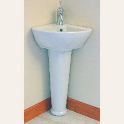 China Corner Pedestal Sink