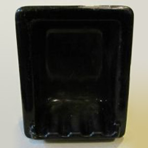 Black Cast Iron Tile In Soapdish