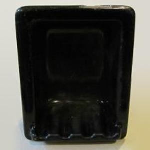 Black Cast Iron Tile In Soapdish