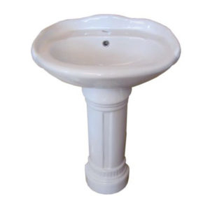 Edwardian China Pedestal Sink