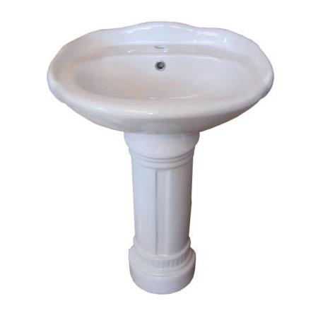 Edwardian China Pedestal Sink