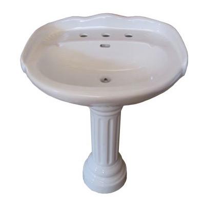 Neo-Classic China Pedestal Sink