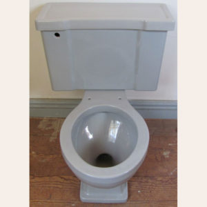 1955 Vintage Briggs Gray Toilet Set