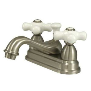 "4"" Center Lavatory Faucet with Ceramic Cross Handles"