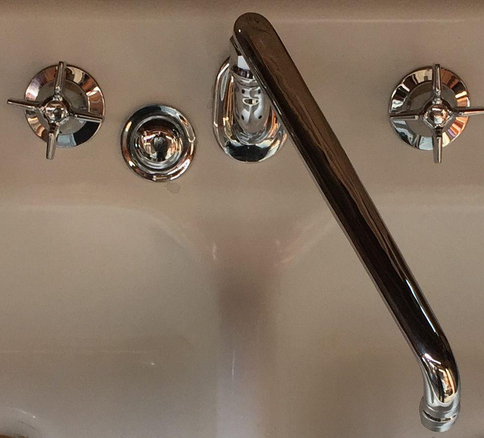 Reproduction Crane Pre Ww2 Kitchen Slantback Faucet Dea