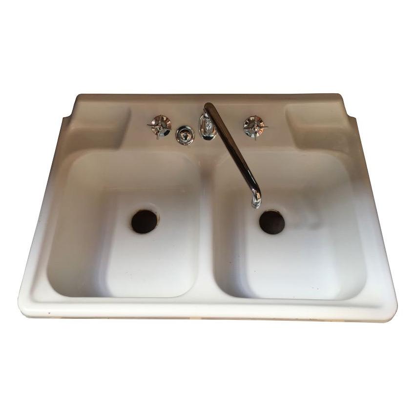 Crane Pre Ww2 Kitchen Slantback Faucet