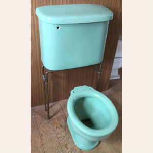 1929 Antique Crane Mauretania Toilet Set in Pale Jade