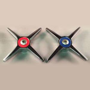 Chicago 633-PRJKCP Metal Cross Handles, Pair