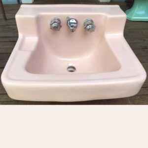 1957 Vintage Standard Corallin Wall Hung Sink