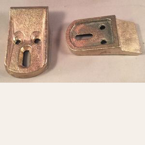 Heavy Silicone Bronze China Lavatory Bracket Pair