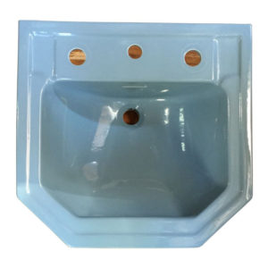1954 Vintage Blue Standard tile in Lavatory sink
