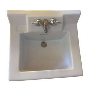 Vintage 1956 Crane Beverly China Wall Hung Sink