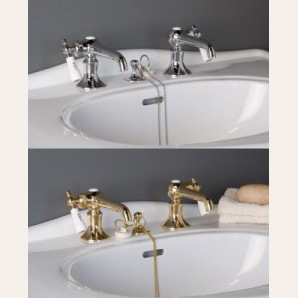 Side Lever Single Basin Tap Set