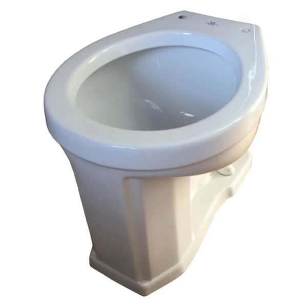 Round Front Rear Spud Hightank Toilet Bowl Only