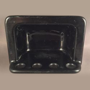 Vintage Black CI Toothbrush Holder